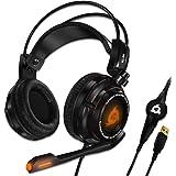 KLIM Puma Cuffie Gaming - Micro Headset da Gaming - Suono Surround 7.1 - Altissima Qualità Audio - Vibrazioni Integrate - Cuffie da Gaming con Microfono - Perfette per PC e PS4 Games Nero - Nuova 2020