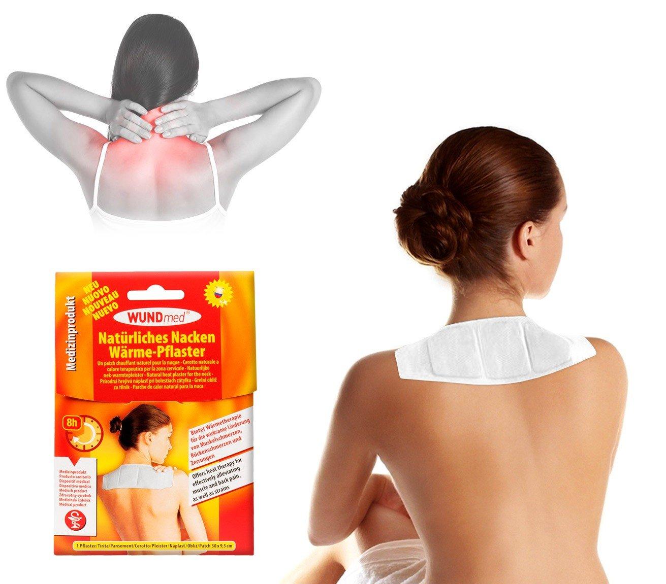 626572 Pack 2 cerotti naturali termici al calore terapeutico per zona cervicale. MEDIA WAVE store ®