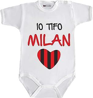 AC Milan Tutina Neonato Lunga in Caldo Cotone Prodotto Ufficiale Art M031