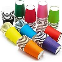 CAILI Lot de 100 gobelet Carton,gobelets en Papier pour fête de Mariage pour Dessin d'enfant,matériel de Bricolage…