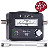 DUR-line® SF 2400 Pro - Satfinder - NEU - Messgerät zum exakten Ausrichten Ihrer digitalen Satelliten-Schüssel inkl. F-Kabel und verständlicher Deutscher Anleitung