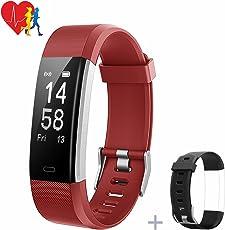 Mpow Fitness Tracker Fitness Armbänder mit Pulsmesser Herzfrequenzmonitor Aktivitätstracker Pedometer Schlafmonitor,Schrittzähler mit 14 Trainingsmodi für Android iOS Smartphones.