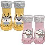 Calcetines Antideslizantes Para Bebés Algodón Grueso y Cálido Bonitos Calcetines Deportivos Para Niños y Niñas Calcetines par
