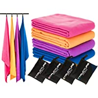 Structure Fitness Microfibre Pocket Sport and Travel Towel with Zip Carry Bag Highly Absorbent Quick Drying