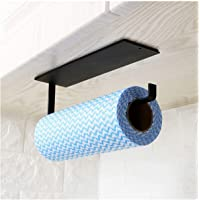 Kitchen Paper Towel Holder Under Cabinet - Toilet Roll Holder Wall Mounted Self Adhesive - Hanger Towel Rack for…
