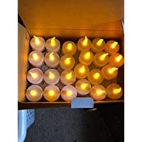 TIED RIBBONS plastic LED Tealight Candle , Pack of 24