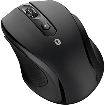 JETech M0884 Bluetooth Wireless Mouse for PC, Mac, and Android OS Tablet with 6-month Battery Life, Black