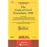 The Code of Civil Procedure, 1908 - Bare Act with Short Notes