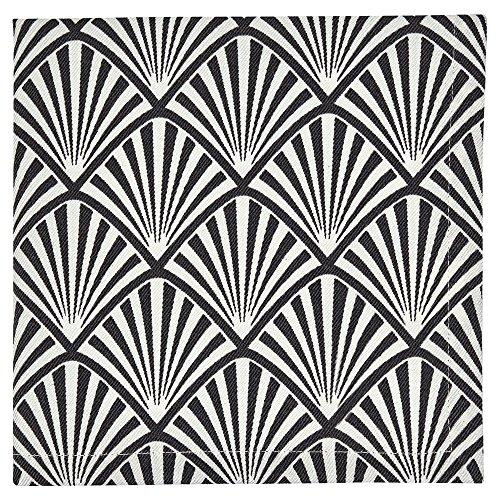 GreenGate - Gate Noir - Stoffserviette, Serviette - im Art Deco Design - 100{6b0ccc98729c259a7844099c3f9f4a5259fdab6b94e0030d4f417795536d9799} Baumwolle - 40 x 40 cm - 1 Stück