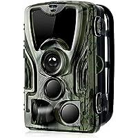 HUJUNG Caméra de Chasse Infrarouge Invisible 16MP 1080P avec Batterie au Lithium 5000Mah, Trail Caméra Sécurité No Glow…