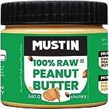Mustin Raw Peanut Butter Chunky Jar, 340 g