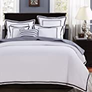 Mellanni Duvet Cover Set - Soft Double Brushed Microfiber Bedding - Button Closure and Corner Ties - Wrinkle, Fade, Stain Resistant