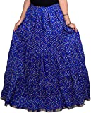 Kastoori Collection Women Cotton Printed Long Skirt (A-Line Skirt, Free Size)