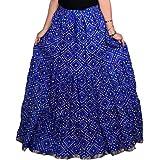 Kastoori Collection Women Cotton Printed Long Skirt (A-Line Skirt, Free Size)