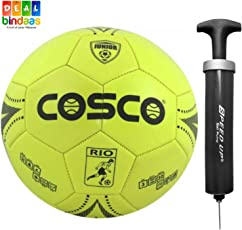 DealBindaas PVC Football for Juniour with Hand Pump and Needle, 3 (Assorted)