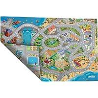 ACHOKA Tapis de Jeux Ultra Fin Réversible Bord de Mer- Ville pour Bébés et Enfants – Filles et Garçons- Polyester…