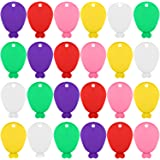URATOT 24 Pieces Colorful Balloon Weights 6 Colors Plastic Balloon Shaped Weights for Helium Balloons, Parties and Celebratio
