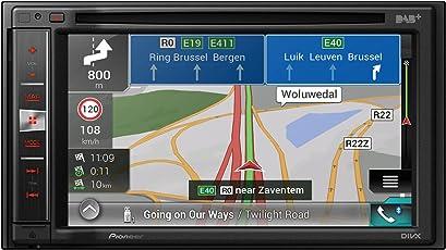 Pioneer AVIC-F980BT Naviceiver   6,2 Zoll High Quality Multimedia Autoradio mit Navigation   2DIN   Bluetooth Freisprechfunktion   RDS-TMC   Touchscreen   CD DVD Player   Rückfahrkamera   USB/AUX   Apple CarPlay   MP3