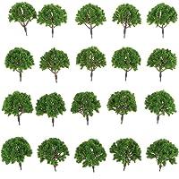 Generic 20pcs Plastic Model Trees for Train Railway Layout Scenery DIY 1:75 SA80-109