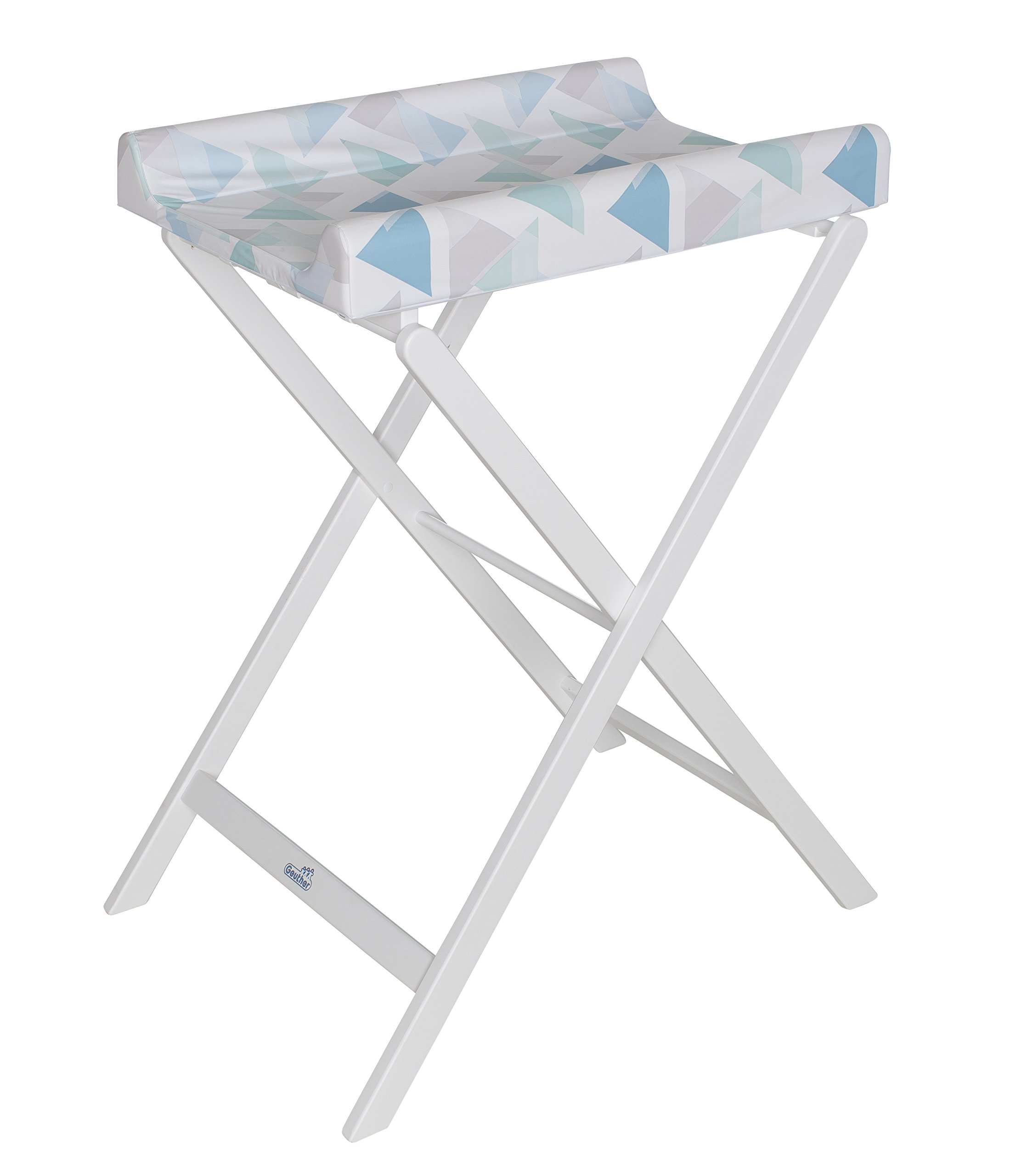 Geuther Trixi Folding Changing Table TÜV-Approved Collapsible Space Saving Geuther H x W x D: 97 x 56 x 70 cm. Includes changing mat Working height: 91 cm. 1