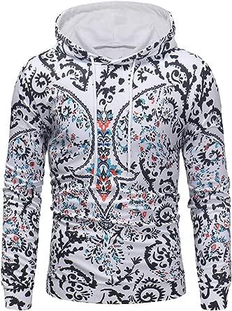 Men Hoodies Pullover Tops Casual Hoodie TShirt Lightweight Sweatshirt Fashionable Creative Pattern Printed Pullover Sweatshirt Comfy Autumn Winter T-Shirt Top