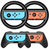 HEYSTOP Grip per Nintendo Switch Joy con [4 Pezzi], Hand Grip Kit Antiusura Custodia Protettiva per Controller Switch Joy con