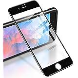 RIWNNI [2-pack skärmskydd för iPhone 8 Plus/7 Plus, heltäckande härdat glasfilm (svart)