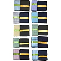 Raymond Men's Blended Unstitched Pre-Matched Maker Shirt and Trouser Fabric (Multicolour, Free Size) - Pack of 10