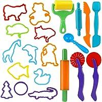 Outils de Pâte À Modeler Play doh Moules Kit pour Argile Pâte à Modeler, 20 pièces Dough Tools D'accessoires de Jouet de…