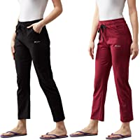BLINKIN Women's Cotton Solid Pajama Combo(Pack of 2)
