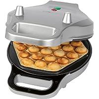 Clatronic WA 3772 Waffeleisen für Bubble Waffeln, Waffelautomat für Bubble Waffle, 6-eckige Backflächenform…