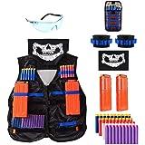 Locisne Kids Jungle Camouflage Tactical Vest Jacket Kit para Nerf Toy Gun N-Strike Elite Series(con 40 Dardos de Espuma+Gafas