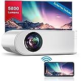 YABER Proiettore WiFi, 5800 Lumens Mini Videoproiettore Portatile 1080P Full HD[Schermo proiezione incluso]Mini…