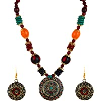 YouBella Jewellery Set for Women Tibetan Pendant Necklace with Earrings for Women & Girls (Gift) Tribal Necklace…