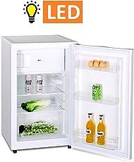 Kühlschrank mit Gefrierfach A++ (90 Liter) 4-Sterne-Gefrierfach (-18 °C) Gefrierschrank ✓ Abtauautomatik ✓ höhenverstellbare Glasablagen ✓ Gemüsefach ✓ Türablagen ✓ Innenbeleuchtung ✓