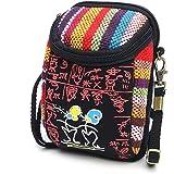 JOSEKO Handy Umhängetasche, Canvas Crossbody Tasche Universal Handytasche zum Umhängen Geldbörse Kleine Tasche für Damen Frau