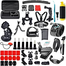 Robustrion 60-in-1 Mounts and Straps Accessory Set for GoPro Hero 6/5/4/3/2/Session/HD and SJ CAM SJ4000/SJ5000/SJ6000