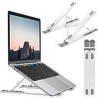 Nulaxy Support Ordinateur Portable, Support PC Portable de Bureau Pliable Ergonomique Aluminium pour Macbook, iPad, HP…