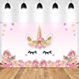 Party Propz Unicorn Theme Birthday Decoration Backdrop-4Ft by 3Ft for Girls Party Decor/ Girl Bday Decoration/Wall…