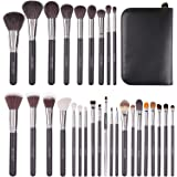 Docolor 29Pcs Professional Makeup Brush Set Goat Hair Foundation Eyeshadow Kit with PU Leather Case