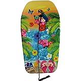 Boogie Board Bodyboard Surf Board Galleggiante per bambini/adulti e guinzaglio, 84 cm