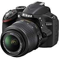 Nikon D3200 Fotocamera Reflex Digitale, 24.2 Megapixel con Obiettivo 18-55VR, Colore Nero [Versione EU]