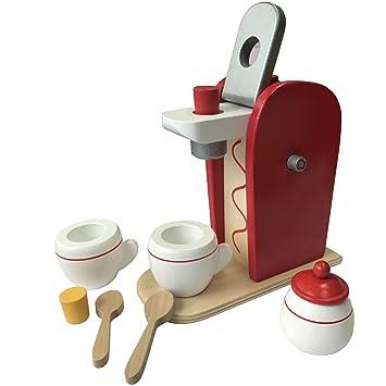 Frühstücksset Kinder Kaffemaschine Toaster Spielset aus Holz mit ...