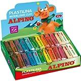 Alpino DP000915 - Espositore di plastilina con 24 pezzi da 50 g, colori assortiti