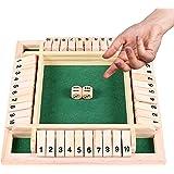 Träbrädspel, klassiskt tärningsspel board leksak, Shut The Box, familjemattespel för barn, trä bordsspel, trä bordsspel klass