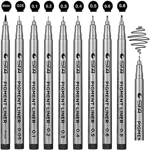 Fineliner, Beupro nero Pigment Liner micro penne da disegno per schizzi disegno redazione ufficio documenti Comic manga scrapbooking e scuola utilizzando