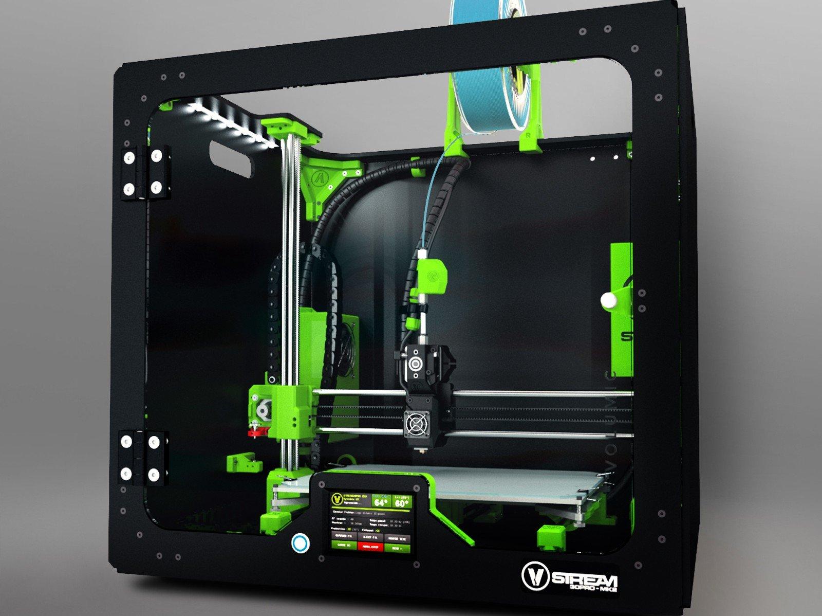 Impresora 3d volumic Stream 30Dual tecnología inalámbrico Fondu