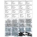 T.K.Uitstekende meergrootse klinknagels, blindklinknagels, assortimentset, 155-delig