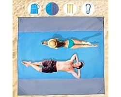 WZLEMOM Coperta Picnic Impermeabile, Coperta da Spiaggia, Anti Sabbia Tappetino da Picnic Extra Large 210 X 200cm, Coperta da