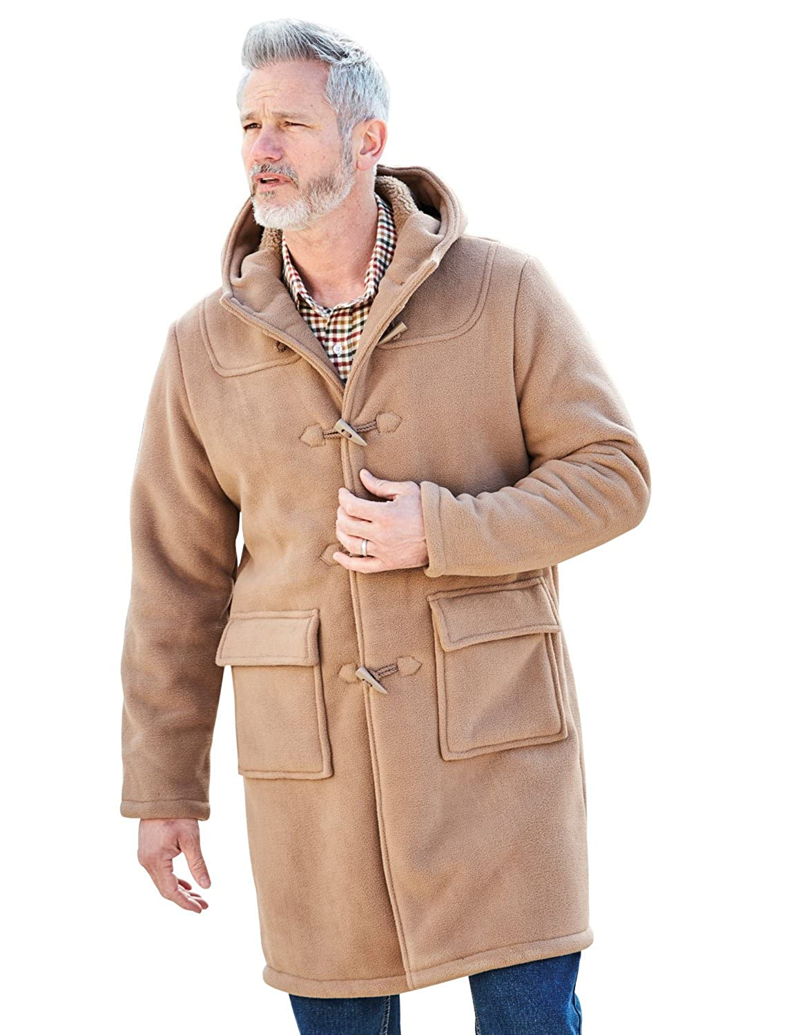 Mens Chums Borg Lined Duffle Coat Jacket: Amazon.co.uk: Clothing